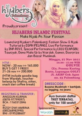 """Join Us """"Hijabers Islamic Festival"""""""